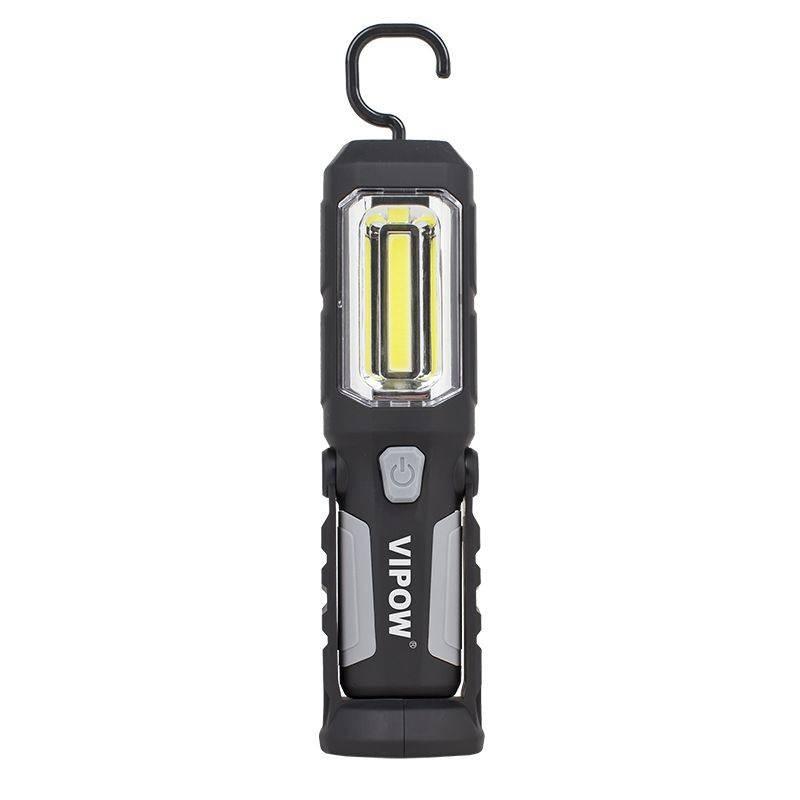 Lampa LED portabila cu acumulator, magnetica, cu carlig, VIPOW