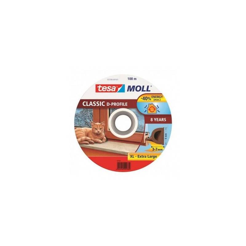ROLA PROFIL ETANSARE TIP-D - 9MM/100M / ALB