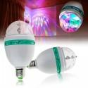 Bec rotativ proiector multicolor LED RGB 3W