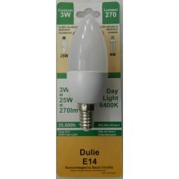 Bec cu led E14 3W ceramic 6400K lumina rece Odosun C35 270LM 25W
