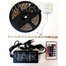 KIT BANDA LED RGB 5050 150 LEDURI 5 METRI + ALIMENTATOR + TELECOMANDA