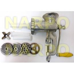 Masina de tocat carne cu accesorii carnati, fonta galvanizata, numarul 10