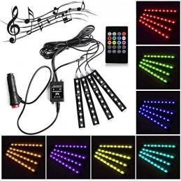 Kit lumini LED RGB 5050 36 LED interior auto telecomanda senzor muzica