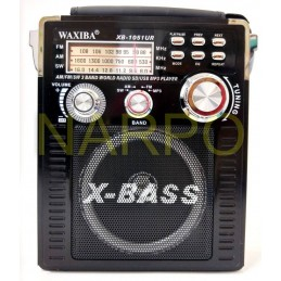 Radio MP3 USB FM AM SW card WAXIBA XB-1051UR cu acumulator