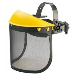 Casca protectie motocoasa cu viziera perforata din plastic