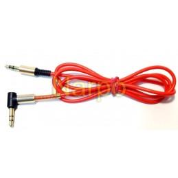 Cablu 3.5mm jack 90 grade tata-tata silicon flexibil 95cm
