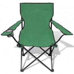 Scaun camping pliabil verde cu husa transport