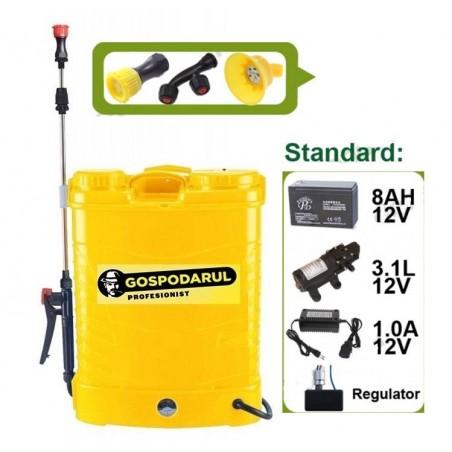 Pompa de stropit electrica cu acumulator Gospodarul Profesionist 16L 4 duze