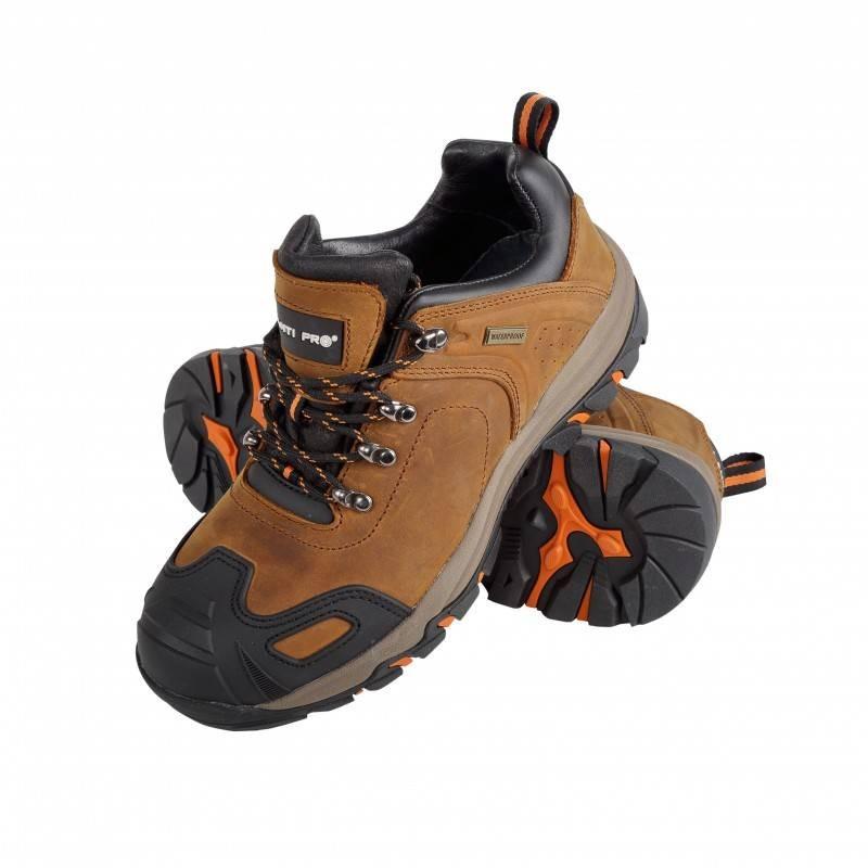 Pantofi piele intoarsa cu cauciuc, O2SRA, Crazy Horse, LAHTI PRO