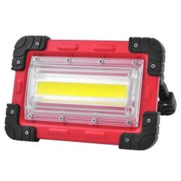 Proiector LED COB 30W portabil cu acumulatori 4x18650
