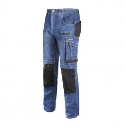 Pantalon lucru tip blugi slim-fit elastic marimi S-3XL Lahti Pro