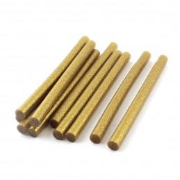 Set 10 batoane silicon auriu cu sclipici 7mm 20cm