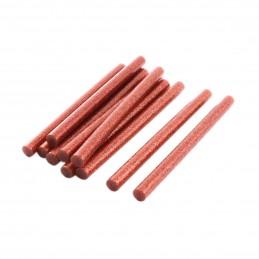 Set 10 batoane silicon rosu cu sclipici 7mm 20cm