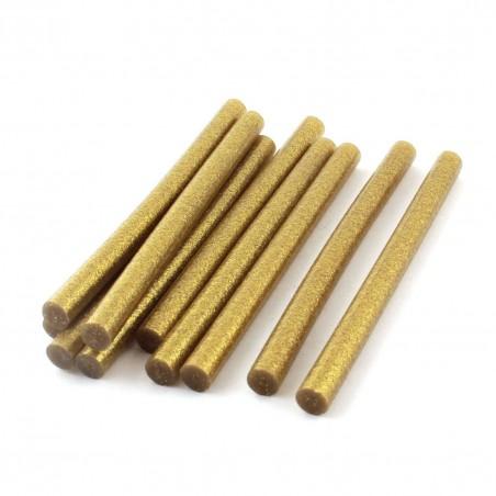 Set 10 batoane silicon auriu cu sclipici 11mm 20cm