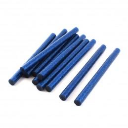 Set 10 batoane silicon albastru cu sclipici 11mm 20cm