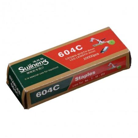 Set capse pentru aparat de legat via 604C, 10.000 buc, Sujineng