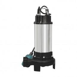 Pompa submersibila INOX cu tocator si plutitor pentru apa murdara 1.5kW 23m3/ora IP55, DZ-P107, Detoolz