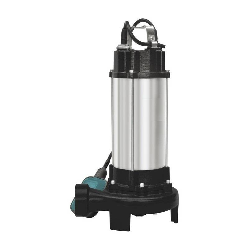 Pompa submersibila cu tocator si plutitor pentru apa murdara 1.5kW 23m3/ora IP55