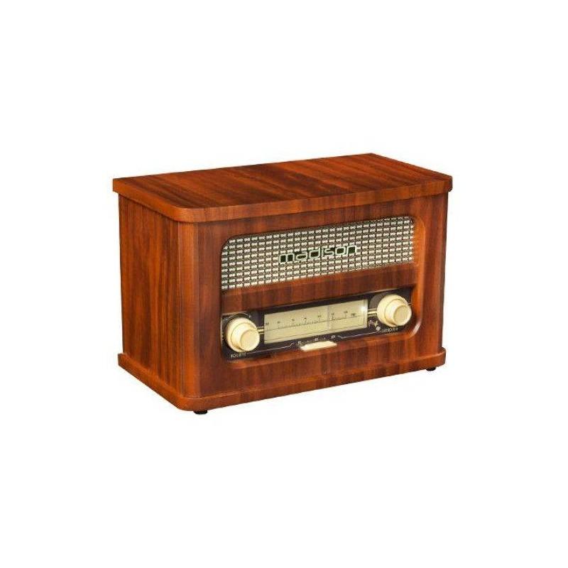 Radio vintage portabil FM cu acumulator bluetooth 10W Madison intrare MP3