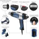 Pistol suflanta de aer cald HL 2020 E, 2200W, max. 630°C, afisaj LCD, valiza depozitare, duza reductie 9mm
