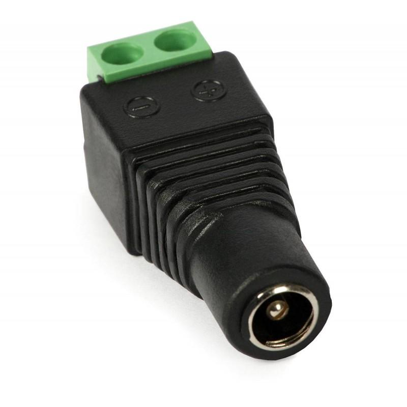 Conector Adaptor DC 2.1 x 5.5 mm Mama la Bloc Terminal 2 pini CCTV NOU