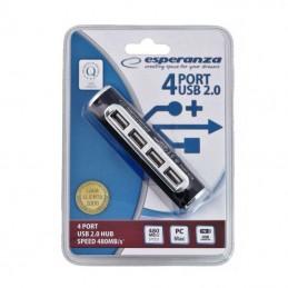 HUB USB ALUMINIU 4 PORTURI USB 2.0 ESPERANZA 480MB/s