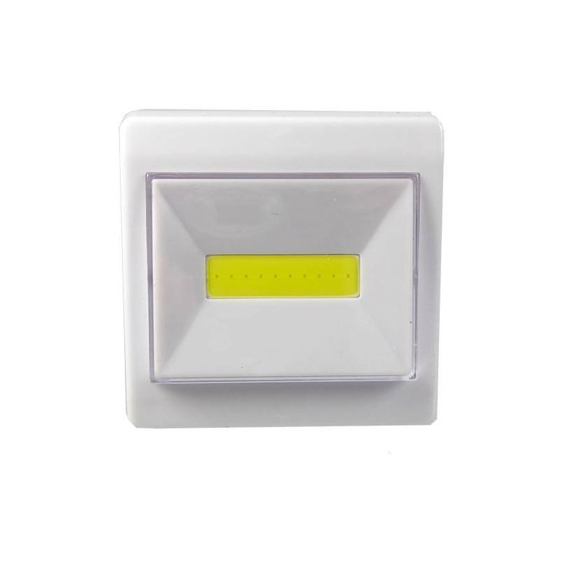 Lampa led de perete cu intrerupator, fara fir, 3W, COB, cu baterii, magnetica