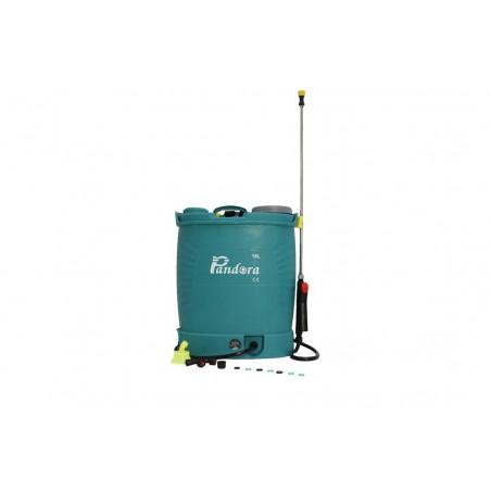 Pompa de stropit electrica Pandora 18L cu acumulator 12V 8A, variator presiune, portocalie, tija telescopica 3 metri, model 2019