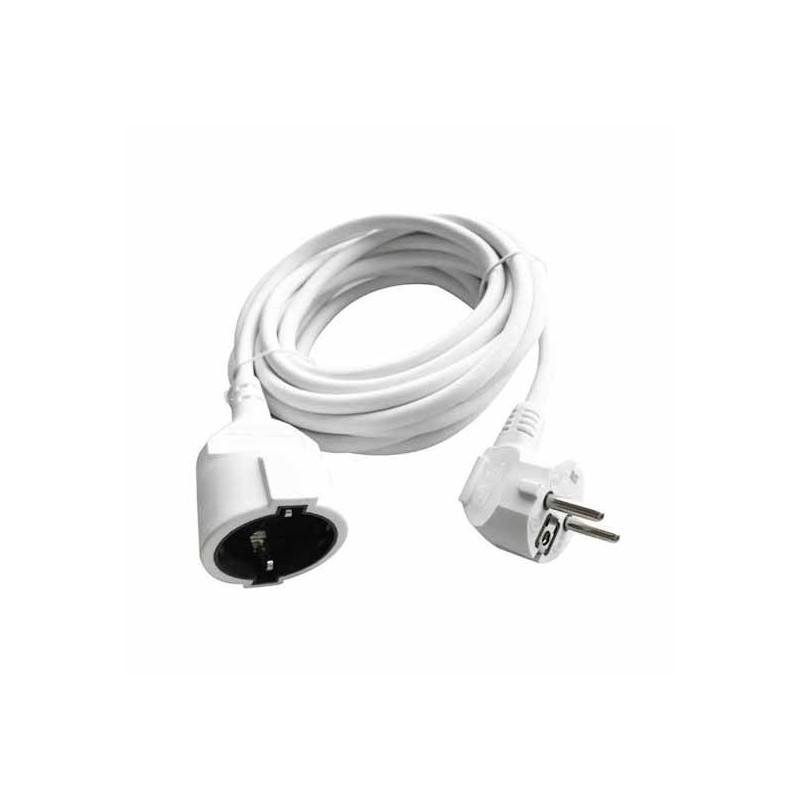 Cablu extensie 10M (3G1.5MM2) 16A, alb, V-TAC, SKU-8780