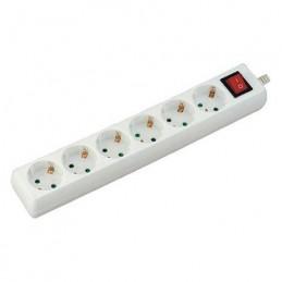 Prelungitor 6 cai, cu intrerupator, 3M, (3G1.5MM2) alb, V-TAC, SKU-8769