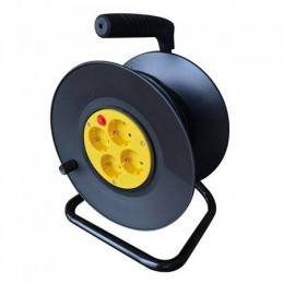 Prelungitor rola tambur 4 cai, 25M, (3G1.5MM2), negru, V-TAC, SKU-8782