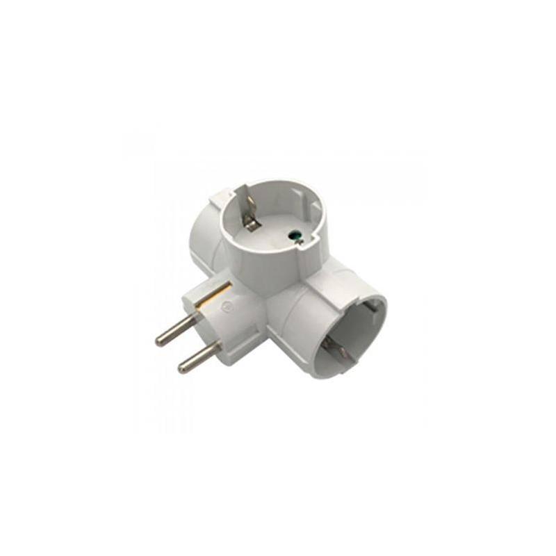 Adaptor 3 prize 3x16A max 3680W, triplu stecher, alb, V-TAC, SKU-8790