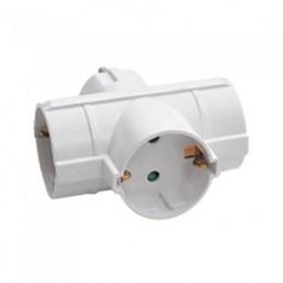 Adaptor 3 prize 3x16A max 3680W, triplu stecher, alb, V-TAC, SKU-8786