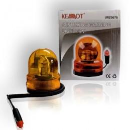 Girofar portocaliu lumina rotativa 12V magnet
