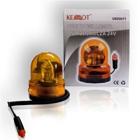 Girofar portocaliu lumina rotativa 24V magnet