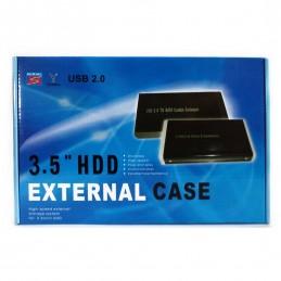"Rack extern HDD 3.5"" SATA USB 2.0 aluminiu"