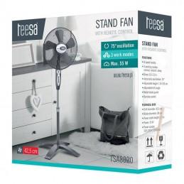 Ventilator cu picior si telecomanda, 8 viteze, temporizator, 3 moduri, TSA8020