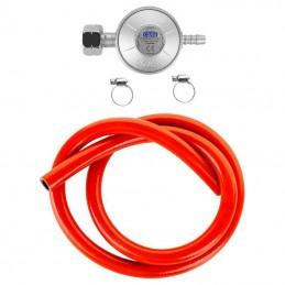 Set reductor gaz cu furtun 1 metru si 2 coliere, EN16129