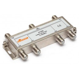 Splitter TV de interior 6 cai - Signal R-6 (9 dB, 5-1000 MHz)