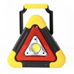 Lanterna multifunctionala WH-6609, 500 lm, in forma de triunghi, incarcare solara, LED