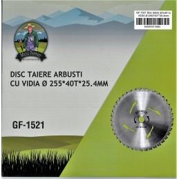 Disc motocositoare taiere arbusti cu vidia 255x40Tx25.4mm GF-1521