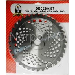 Disc circular cu dinti VIDIA 230x25.4x36T pentru iarba