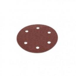 Disc hartie abraziva, smirghel granulatie P120, 215mm, 6 gauri cu prindere scai pentru slefuitor glet pereti, tavan, rigips
