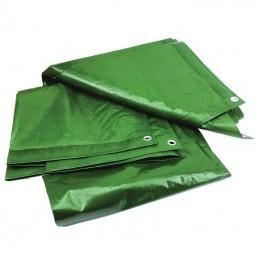 Prelata impermeabila rezistenta UV, 5x8 metri, 120 g/mp, inele de prindere, verde