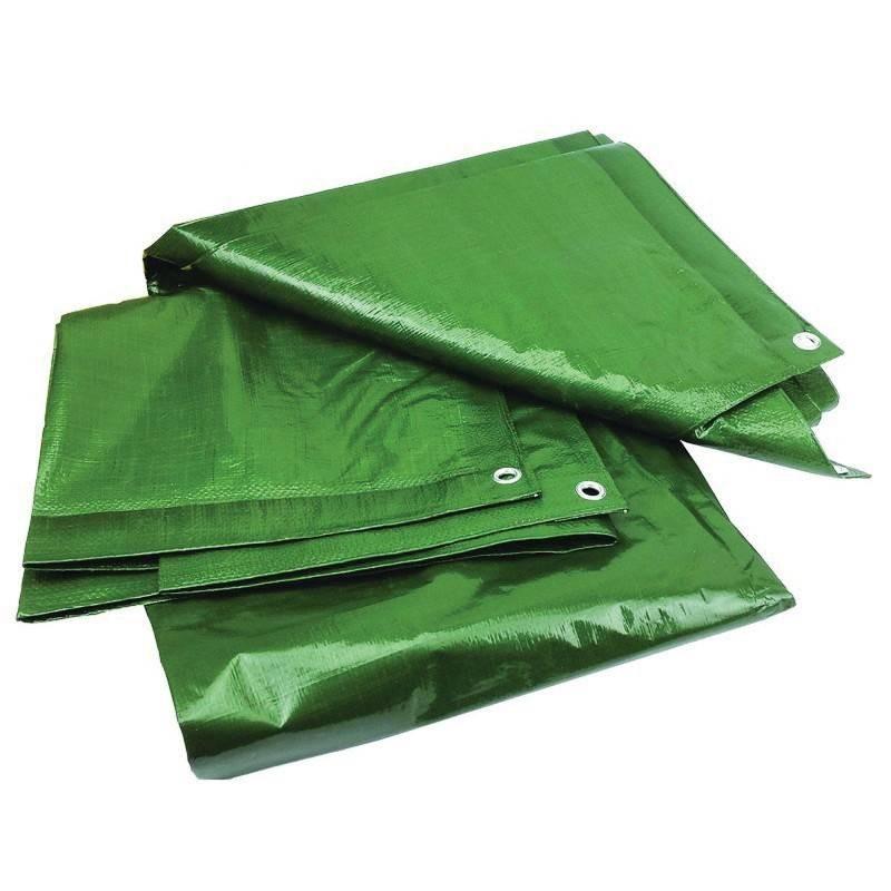 Prelata impermeabila rezistenta UV, 6x10 metri, 120 g/mp, inele de prindere, verde