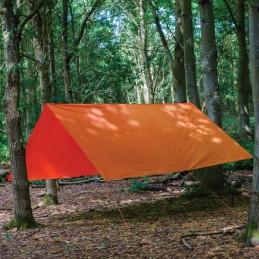 Prelata impermeabila rezistenta UV, 6x10 metri, 80 g/mp, inele de prindere, portocaliu