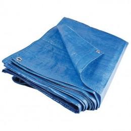 Prelata impermeabila rezistenta UV, 6x10 metri, 80 g/mp, inele de prindere, albastru