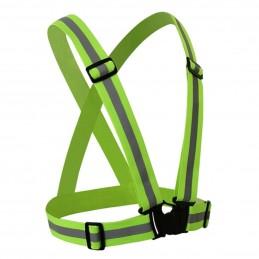 Vesta tip ham reflectorizant reglabil, material elastic, banda 4cm, verde, unisex, universal