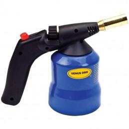 Lampa instalator, lampa de lipit aprindere piezo, corp metalic, rezerva gaz 190g D2190