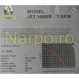 Pompa apa curata, de suprafata, 1.5KW, JET 100SS